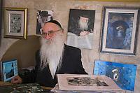 Asie/Israël/Galilée/Safed: Yaakov Kaszmacher ex hippie peintre, photographe et hassid