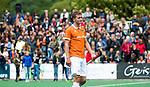 BLOEMENDAAL   - Hockey -  3e en beslissende  wedstrijd halve finale Play Offs heren. Bloemendaal-Amsterdam (0-3).  Teleurstelling bij Floris Wortelboer (Bldaal)  na het eindsignaal.  Amsterdam plaats zich voor de finale.  COPYRIGHT KOEN SUYK