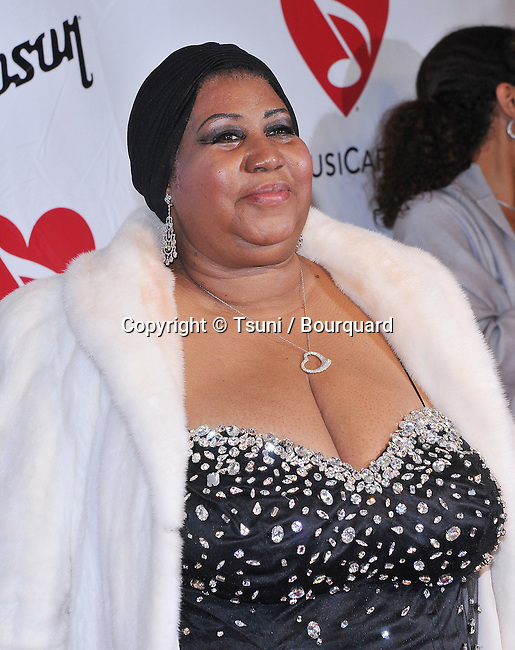 Aretha Franklin   arriving at the Musicare at the Staples Center In Los Angeles.<br /> <br /> headshot