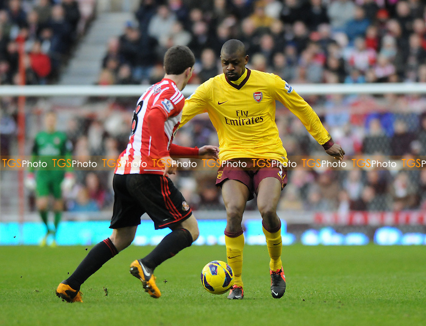 Arsenal's Abou Diaby battles with Craig Gardner of Sunderland - Sunderland vs Arsenal - Barclays Premier League Football at The Stadium of Light, Sunderland, Tyne & Wear - 09/02/13 - MANDATORY CREDIT: Steven White/TGSPHOTO - Self billing applies where appropriate - 0845 094 6026 - contact@tgsphoto.co.uk - NO UNPAID USE.