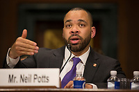 Neil Potts, the Public Policy Director at Facebook, testifies before the United States Senate Committee on the Judiciary on Capitol Hill in Washington DC to discuss the stifling of free speech on social media on April 10, 2019.<br /> Credit: Stefani Reynolds / CNP/AdMedia