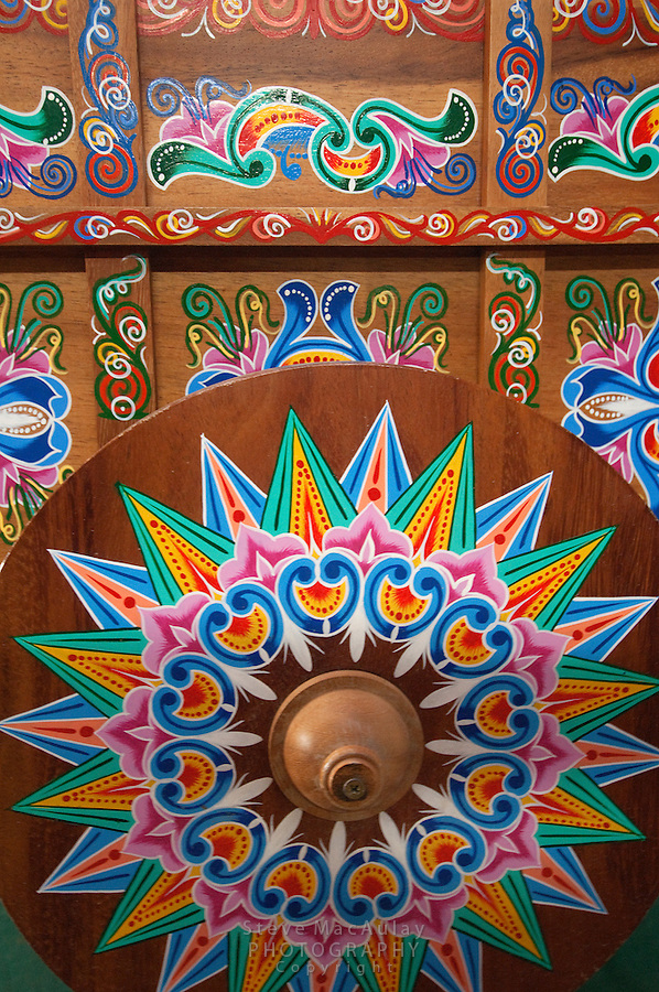 Traditional Painted Cart, Costa Rica
