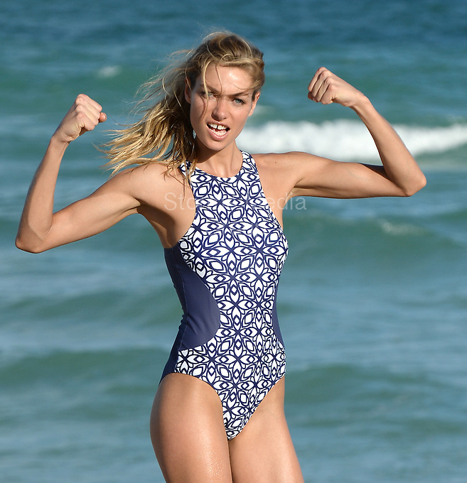SMG_Jessica Hart_FLXX_Bikini_120613_01.JPG<br /> <br /> MIAMI BEACH, FL - DECEMBER 06: Jessica Hart gets back to work modeling bikinis after rumors of being fired from Victoria's Secret.   Jessica Hart (born 26 March 1986) is an Australian model that appeared in the 2009 Sports Illustrated Swimsuit Issue. She was born in Sydney, Australia. She was discovered in Melbourne and has appeared on the cover of Australian Vogue on December 6, 2013 in Miami, Florida.  (Photo By Storms Media Group)<br /> <br /> People:  Jessica Hart<br /> <br /> Transmission Ref:  FLXX<br /> <br /> Must call if interested<br /> Michael Storms<br /> Storms Media Group Inc.<br /> 305-632-3400 - Cell<br /> 305-513-5783 - Fax<br /> MikeStorm@aol.com<br /> www.StormsMediaGroup.com