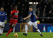 2nd December 2017, Goodison Park, Liverpool, England; EPL Premier League football, Everton versus Huddersfield Town; Morgan Schneiderlin of Everton closes down Kasey Palmer