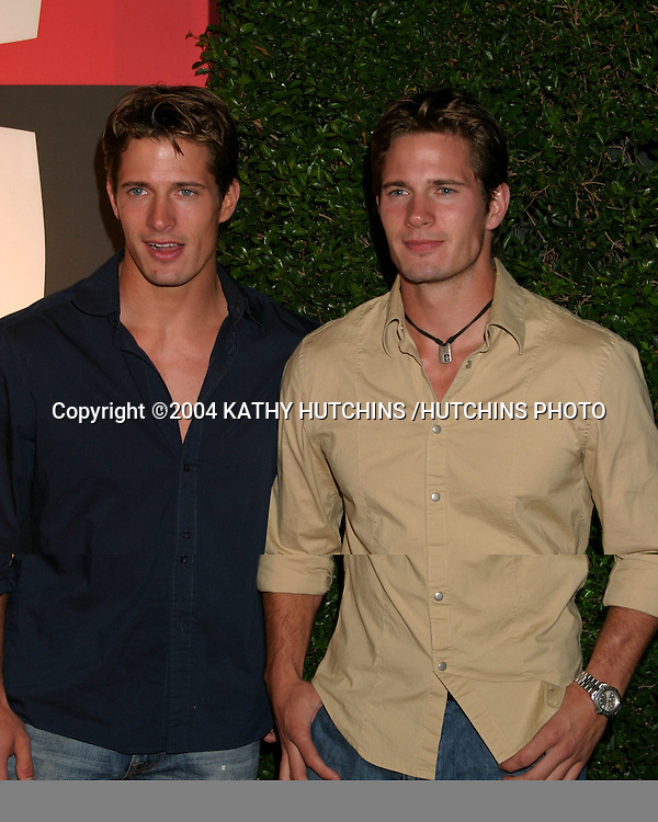 ©2004 KATHY HUTCHINS /HUTCHINS PHOTO.EMMY NOMINEE RECEPTION.ENTERTAINMENT WEEKLY PRE EMMY PARTY.SEPTEMBER 18, 2004..LANE AND KYLE CARLSON