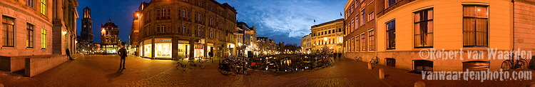 Panorama photograph of the Utrecht city center in the Netherlands. Panorama beeld van het Utrechtse Centruum.
