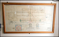 BNPS.co.uk (01202 558833)<br /> Pic: PhilYeomans/BNPS<br /> <br /> Plan of the purpose built building.<br /> <br /> Sci-fi 'Centrifuge' to open its doors to the public after 64 years...<br /> <br /> A remarkable Cold War relic which has put thousands of pilots through their G-force paces has made its final spin after six decades. <br /> <br /> The Top Secret building at the former RAE Farnborough test site is now open to the public for guided tours led by the scientists from FAST who used to work there.<br /> <br /> The Farnborough Centrifuge was used to simulate huge 9G forces - nine times more than a human body is designed to absorb - they would encounter while flying fast jets during combat operations.<br /> <br /> The pilot would sit in a small compartment replicating a cockpit at the end of the 60ft rotating arm and be propelled at over 60mph, spinning 30 times a minute.<br /> <br /> A staggering 122,133 tests were performed on it before it was decommissioned in March this year, with a new centrifuge installed at RAF Cranwell.<br /> <br /> It featured on an episode of Top Gear in 2000 when Jeremy Clarkson had a go on it at 3G, leaving him in obvious discomfort. He described the force exerted on him as like 'having an elephant sat on my chest'.<br /> <br /> The centrifuge, which is being displayed for the public for the first time, also appeared in the 1985 comedy film Spies Like Us starring Chevy Chase and Dan Ackroyd.