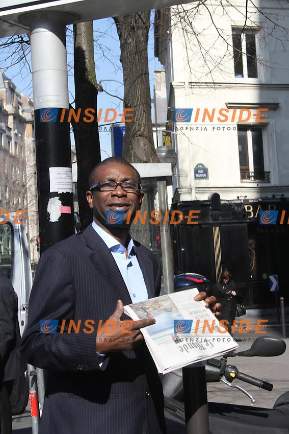 Youssou N'dour Musicista del Senegal, leader dell'opposizione in Senegal.Parigi 12/3/2012.Foto Insidefoto / Philippe Lemire / Panoramic.ITALY ONLY