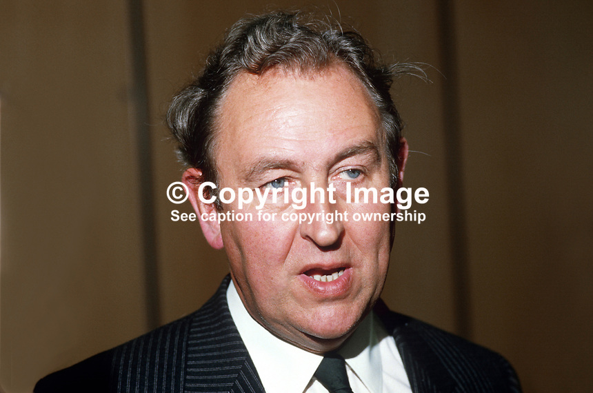 Dr George Chambers, chief executive, Milk Marketing Board for N Ireland, 19840077GC.<br /> <br /> Copyright Image from Victor Patterson, 54 Dorchester Park, <br /> Belfast, UK, BT9 6RJ<br /> <br /> t1: +44 28 9066 1296 (from Rep of Ireland 048 9066 1296)<br /> t2: +44 28 9002 2446 (from Rep of Ireland 048 9002 2446)<br /> m: +44 7802 353836<br /> <br /> e1: victorpatterson@me.com<br /> e2: victorpatterson@gmail.com<br /> www.victorpatterson.com<br /> <br /> Please see my Terms and Conditions of Use at www.victorpatterson.com. It is IMPORTANT that you familiarise yourself with them.<br /> <br /> Images used on the Internet must be visibly watermarked i.e. &copy; Victor Patterson<br /> within the body of the image and copyright metadata must not be deleted. Images <br /> used on the Internet have a size restriction of 4kbs and will be chargeable at current<br />  NUJ rates unless agreed otherwise.<br /> <br /> This image is only available for the use of the download recipient i.e. television station, newspaper, magazine, book publisher, etc, and must not be passed on to any third <br /> party. It is also downloaded on condition that each and every usage is notified within 7 days to victorpatterson@me.com<br /> <br /> The right of Victor Patterson to be identified as the author is asserted in accordance with The Copyright Designs And Patents Act (1988). All moral rights are asserted.