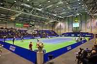 December 20, 2014, Rotterdam, Topsport Centrum, Lotto NK Tennis, overall view centercourt with mens double wheelchair final<br /> Photo: Tennisimages/Henk Koster