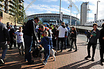 Increased security measures for fans having bags searched before the start of the premier league match at the Wembley Stadium, London. Picture date 16th September 2017. Picture credit should read: Robin Parker/Sportimage
