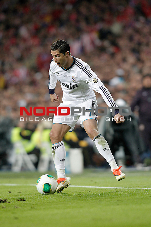 Real Madrid's Cristiano Ronaldo during spanish KIng's Cup Final match.May 17,2013. Foto © nph / Acero)