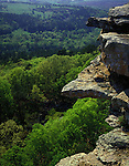 Petit Jean State Park, AR<br /> Spring green colors of the Arkansas River Valley from a rock outscrop on Red Bluff Drive