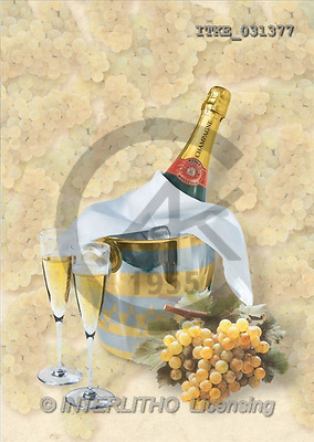 Isabella, MASCULIN, paintings, champagne, grapes(ITKE031377,#M#) Männer, masculino, illustrations, pinturas , hombres ,everyday