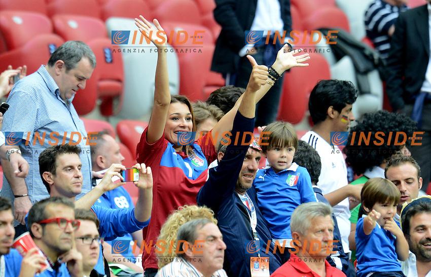 """Alena SEREDOVA (Italia).Varsavia 28/06/2012  """"Stadion Narodowy"""".Football calcio Europeo 2012 Germania Vs Italia.Football Calcio Euro 2012.Foto Insidefoto Alessandro Sabattini..."""