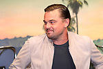 "Actor Leonardo DiCaprio attends the press conference for their movie ""Once Upon a Time in Hollywood"" in Tokyo, Japan on August 26, 2019.  The film will be released in Japan on August 30.   (Photo by AFLO)"