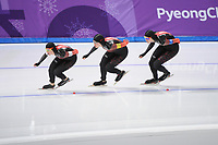 OLYMPIC GAMES: PYEONGCHANG: 19-02-2018, Gangneung Oval, Long Track, Team Pursuit Ladies, Team Canada, ©photo Martin de Jong