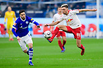 16.03.2019, VELTINS Arena, Gelsenkirchen, Deutschland, GER, 1. FBL, FC Schalke 04 vs. RB Leipzig<br /> <br /> DFL REGULATIONS PROHIBIT ANY USE OF PHOTOGRAPHS AS IMAGE SEQUENCES AND/OR QUASI-VIDEO.<br /> <br /> im Bild Zweikampf zwischen Suat Serdar (#8 Schalke) und Kevin Kampl (#44 Leipzig)<br /> <br /> Foto © nordphoto / Kurth