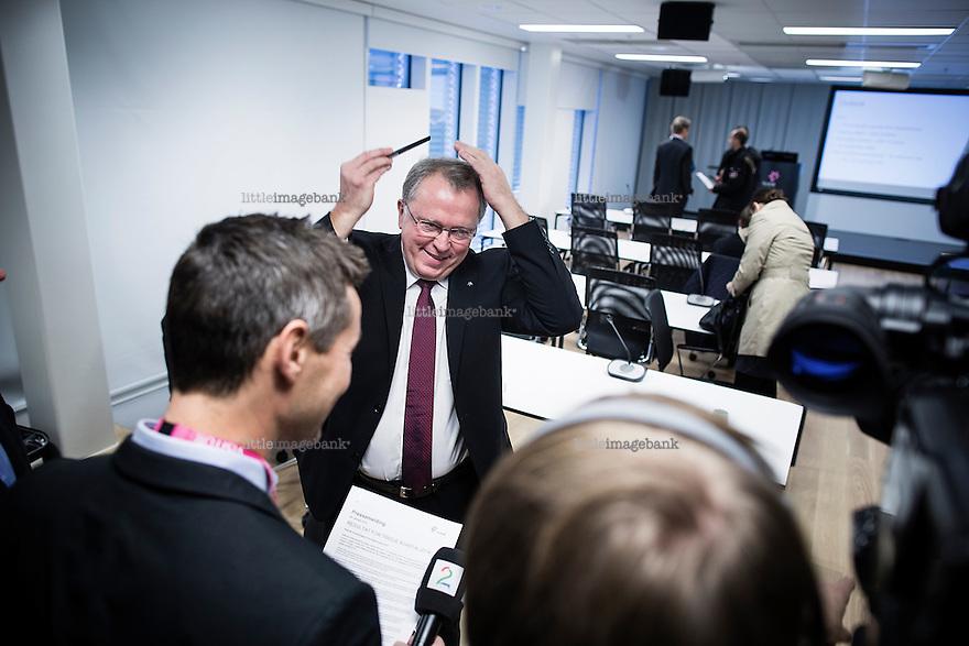 Oslo, Norge, 29.10.2014. Eldar Sætre (født 1956 i Ørsta) er en norsk næringslivsleder som er konserndirektør i Statoil. Foto: Christopher Olssøn.