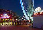 Seattle, Washington<br /> Seattle Great Wheel, a Ferris wheel on the Elliott Bay waterfront - Pier 57, at night