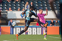 Aaron Pierre of Wycombe mistimes a shot during the Sky Bet League 2 match between Wycombe Wanderers and Northampton Town at Adams Park, High Wycombe, England on 3 October 2015. Photo by Andy Rowland.