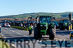 The start of the Tractor Run at the old fish farm in Lispole on Sunday afternoon.