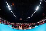 14.09.2019, Paleis 12, BrŸssel / Bruessel<br />Volleyball, Europameisterschaft, Deutschland (GER) vs. Belgien (BEL)<br /><br />Team Deutschland wŠhrend Hymne<br /><br />  Foto © nordphoto / Kurth