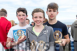 L-R Tomás Fitzpatrick with Siobhan&Seamus Lyne from Brandon village who won the U16 mixed race at the Brandon Regatta last Sunday.