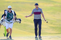 Lucas Bjerregaard (DEN) on the 2nd green during the 1st round of the 2017 Portugal Masters, Dom Pedro Victoria Golf Course, Vilamoura, Portugal. 21/09/2017<br /> Picture: Fran Caffrey / Golffile<br /> <br /> All photo usage must carry mandatory copyright credit (&copy; Golffile | Fran Caffrey)