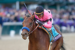 November 2, 2018: Game Winner #9, ridden by Joel Rosario, wins the Sentient Jet Juvenile on Breeders' Cup World Championship Friday at Churchill Downs on November 2, 2018 in Louisville, Kentucky. Kaz Ishida/Eclipse Sportswire/CSM