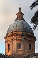 18th century dome, the Duomo (Cathedral) of Palermo, Sicily, Italy. 12th century cathedral encompassing a wide variety of architectural styles from Romanesque to Byzantine. Picture by Manuel Cohen