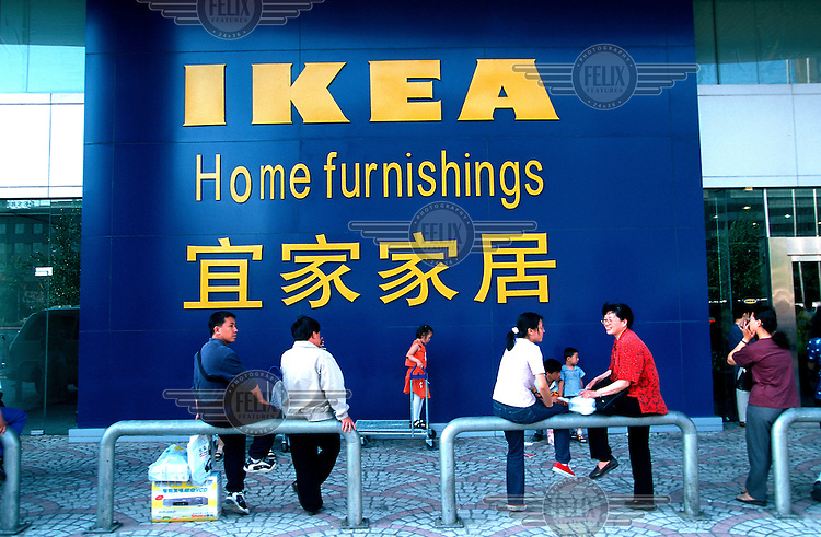 Mark Henley/Panos Pictures..China, Beijing..Outside IkEA.