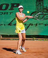 05-08-13, Netherlands, Dordrecht,  TV Desh, Tennis, NJK, National Junior Tennis Championships, Eva van der Weegen   Daphne Bloemhof<br /> <br /> <br /> Photo: Henk Koster