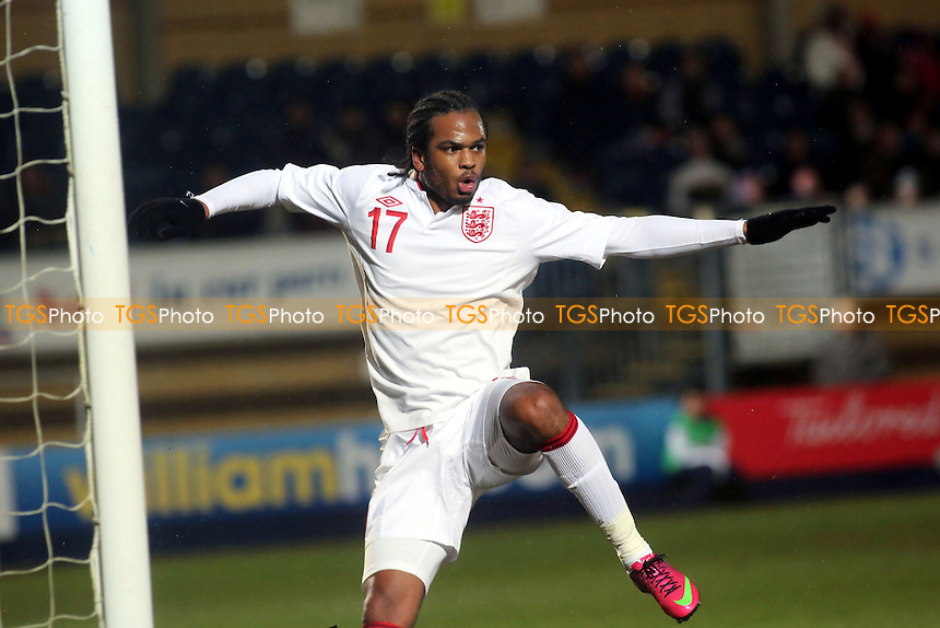 Nathan Delfouneso of England - England Under-21 vs Romania Under-21 - International Football at Adams Park, High Wycombe - 21/03/13 - MANDATORY CREDIT: Paul Dennis/TGSPHOTO - Self billing applies where appropriate - 0845 094 6026 - contact@tgsphoto.co.uk - NO UNPAID USE.
