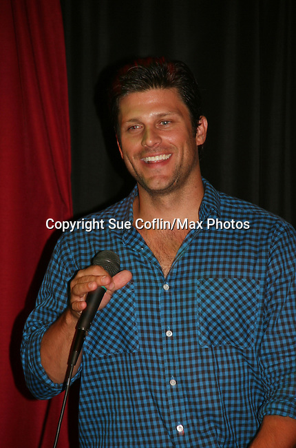 General Hospital's Greg Vaughan appears at the Brokerage Comedy Club on August 8, 2009 in Bellmore, New York. Autographs, photos and Q & A at the VIP Reception. (Photo by Sue Coflin/Max Photos)