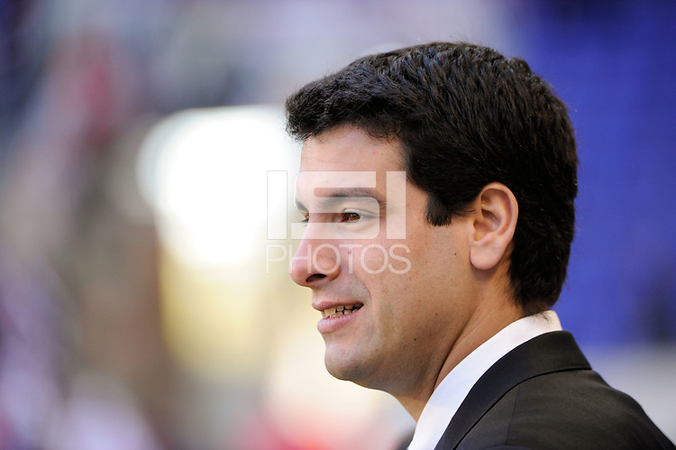 New York Red Bulls technical director Ricardo Campos prior to the 1st leg of the Major League Soccer (MLS) Western Conference Semifinals against the Los Angeles Galaxy at Red Bull Arena in Harrison, NJ, on October 30, 2011.