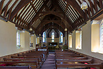 Inside the Victorian Church of Saint John,  built 1874, Purton, Gloucestershire, England, UK