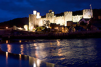 Conway Castle at night, North Wales
