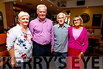 Geraldine Costello, Pat Griffin, Padraig and Sylvia O'Sullivan attending the fundraiser for the young musicians of the Ballybunion CCE in the Hibernian Ballybunion on Sunday.