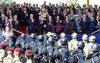 Un momento della parata militare in occasione del 67esimo anniversario della proclamazione della Repubblica Italiana, ai Fori Imperiali, Roma, 2 giugno 2013.<br /> A moment of the military parade in occasion of the Italian Republic Day, in Rome, 2 june 2013.<br /> UPDATE IMAGES PRESS/Riccardo De Luca