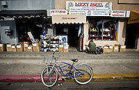 The popular market area in downtown Laredo, Texas, Wednesday, Dec., 9, 2009. With over 95 percent of the population as Hispanic Spanish speakers, Laredo ranked the lowest in literacy rates in the 2000 US census. Many signs and business in town are in both Spanish and English...PHOTOS/ MATT NAGER