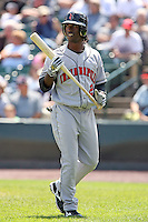 August 11th 2008:  Center fielder Andrew McCutchen of the Indianapolis Indians, Class-AAA affiliate of the Pittsburgh Pirates, during a game at Frontier Field in Rochester, NY.  Photo by:  Mike Janes/Four Seam Images