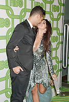 BEVERLY HILLS, CA - JANUARY 06: Sarah Hyland (R) and Wells Adams attend HBO's Official Golden Globe Awards After Party at Circa 55 Restaurant at the Beverly Hilton Hotel on January 6, 2019 in Beverly Hills, California.<br /> CAP/ROT/TM<br /> ©TM/ROT/Capital Pictures