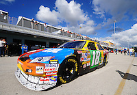 Nov. 15, 2008; Homestead, FL, USA; NASCAR Sprint Cup Series driver Kyle Busch during practice for the Ford 400 at Homestead Miami Speedway. Mandatory Credit: Mark J. Rebilas-
