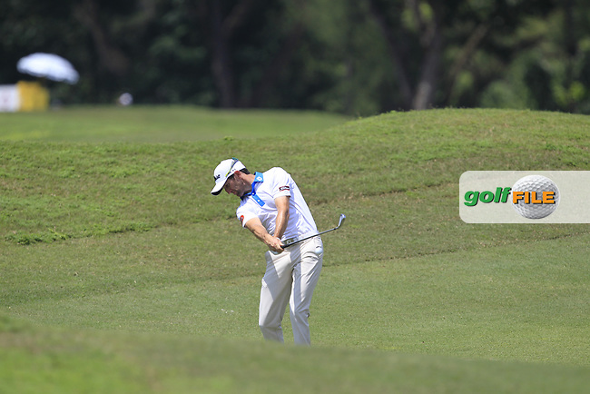 Gregory Bourdy (FRA) in action on the 2nd fairway during Round 1 of the Maybank Championship at the Saujana Golf and Country Club in Kuala Lumpur on Thursday 1st February 2018.<br /> Picture:  Thos Caffrey / www.golffile.ie<br /> <br /> All photo usage must carry mandatory copyright credit (© Golffile | Thos Caffrey)