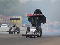Aug 19, 2018; Brainerd, MN, USA; NHRA top fuel driver Billy Torrence during the Lucas Oil Nationals at Brainerd International Raceway. Mandatory Credit: Mark J. Rebilas-USA TODAY Sports