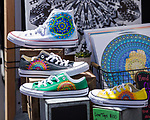 Artist Nicole Stirling's painted sneakers during Art Fest on Saturday June 30, 2018 in downtown Reno.