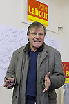 © Joel Goodman - 07973 332324 . . 07/02/2014 .  Manchester , UK . DAVID NEILSON , who plays Roy Cropper in Coronation Street , meets Labour candidate Mike Kane on the campaign trail at the Labour Party Campaign HQ at the Wythenshawe and Sale East by-election . Photo credit : Joel Goodman