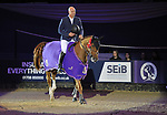"Winner of the Grandstand welcome stakes, Francois Mathy Jnr riding ""Falco Van De Clehoeve"". Horse of the year show (HOYS). National Exhibition Centre (NEC). Birmingham. UK. 05/10/2018. ~ MANDATORY CREDIT Garry Bowden/SIPPA - NO UNAUTHORISED USE - +44 7837 394578"