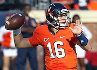 Oct. 15, 2011-Charlottesville, VA.-USA- Virginia Cavaliers quarterback Michael Rocco (16) throws the ball during the ACC football game against Georgia Tech at Scott Stadium. Virginia won 24-21. (Credit Image: © Andrew Shurtleff